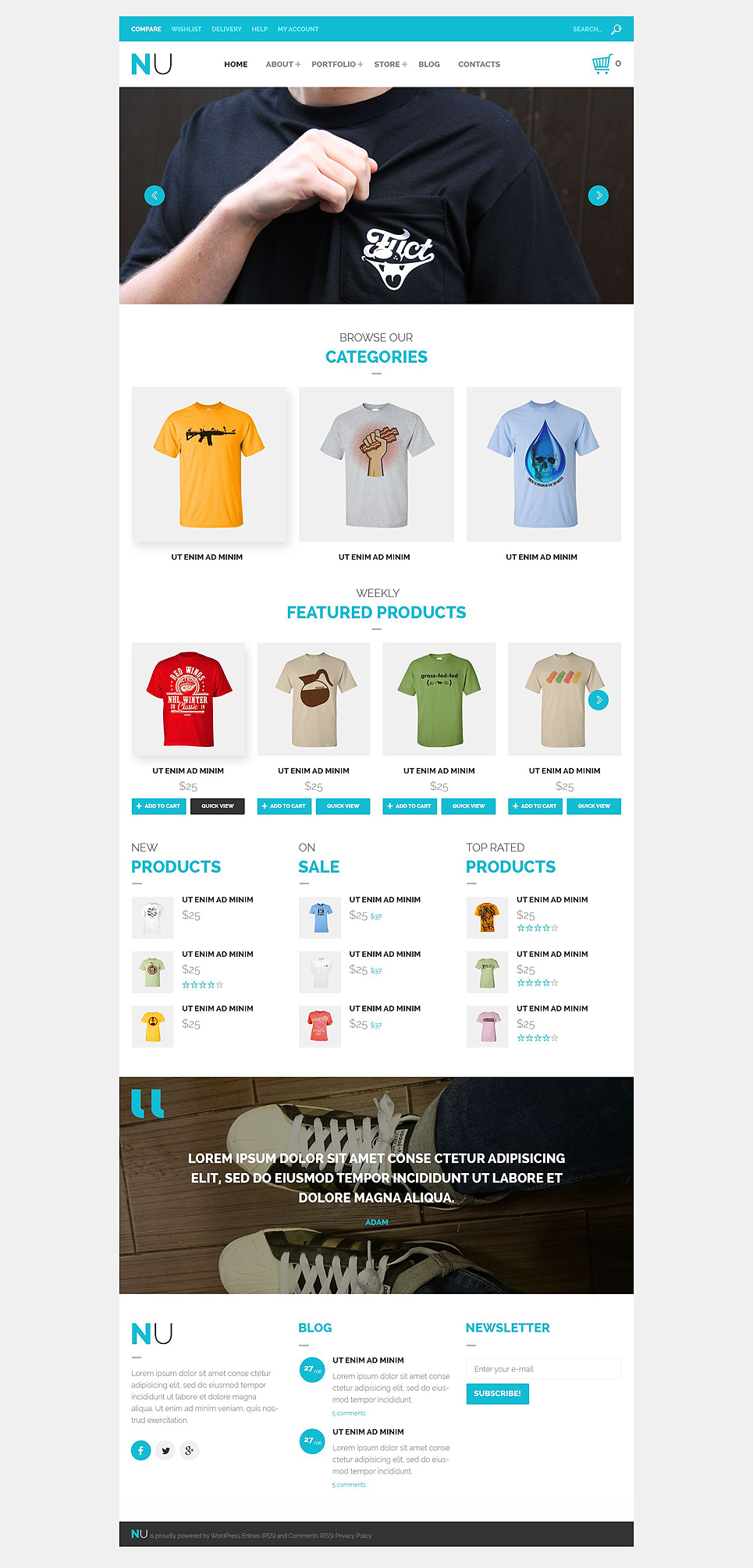 NU T-Shirts WooCommerce Theme (WordPress theme for clothing or fashion stores) Item Picture