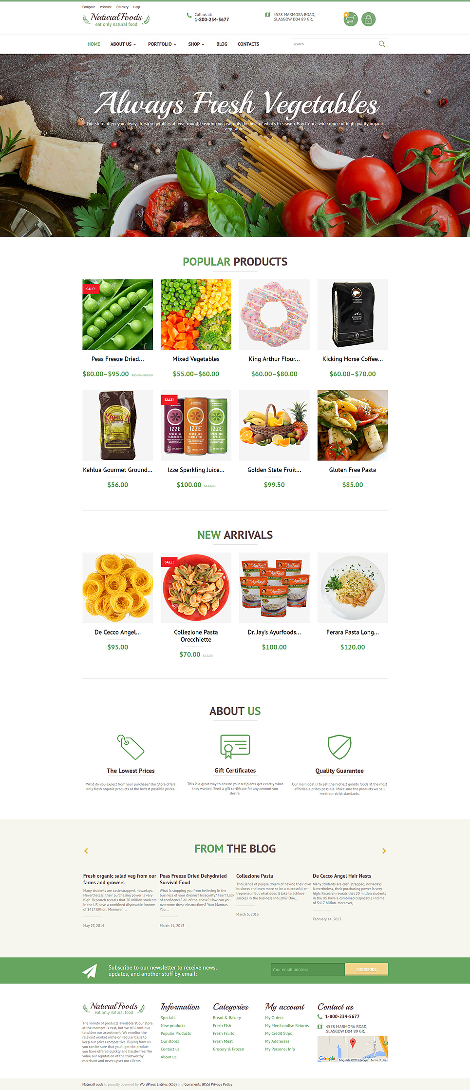 Natural Foods (template for WooCommerce) Item Picture