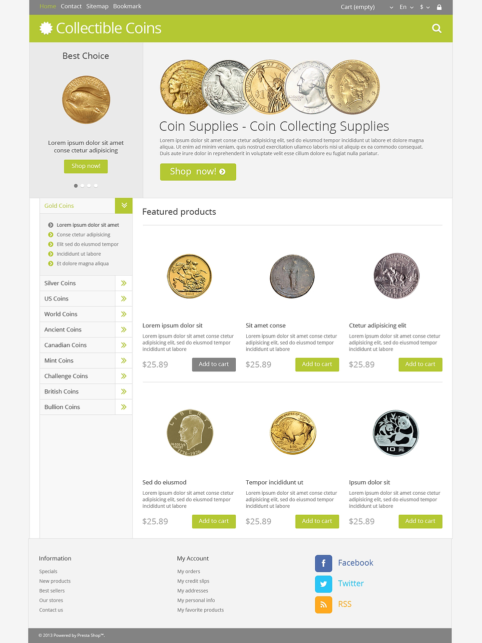 Coin-up Store (PrestaShop template) Item Picture