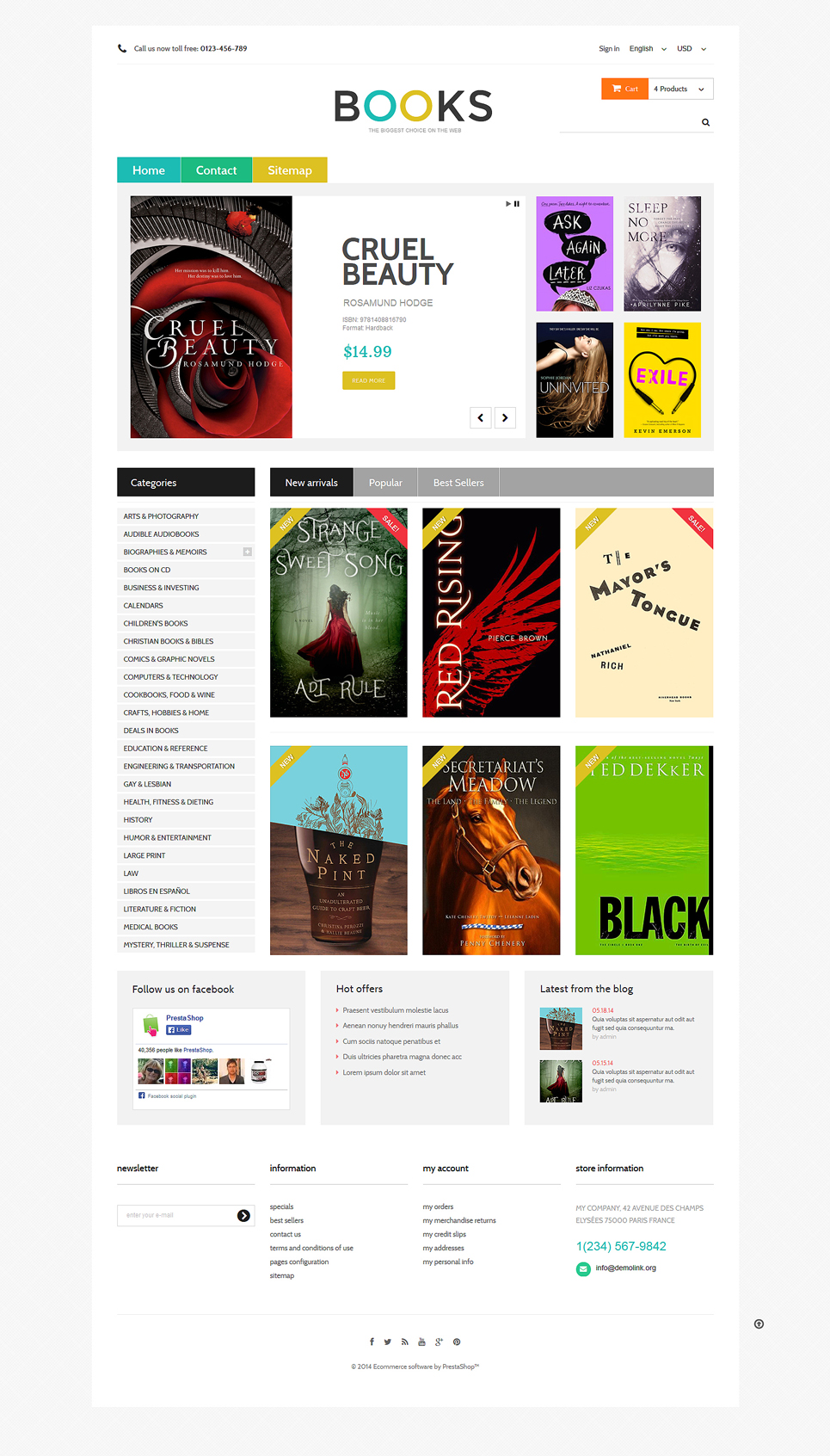 Online Bookstall (PrestaShop theme) Item Picture