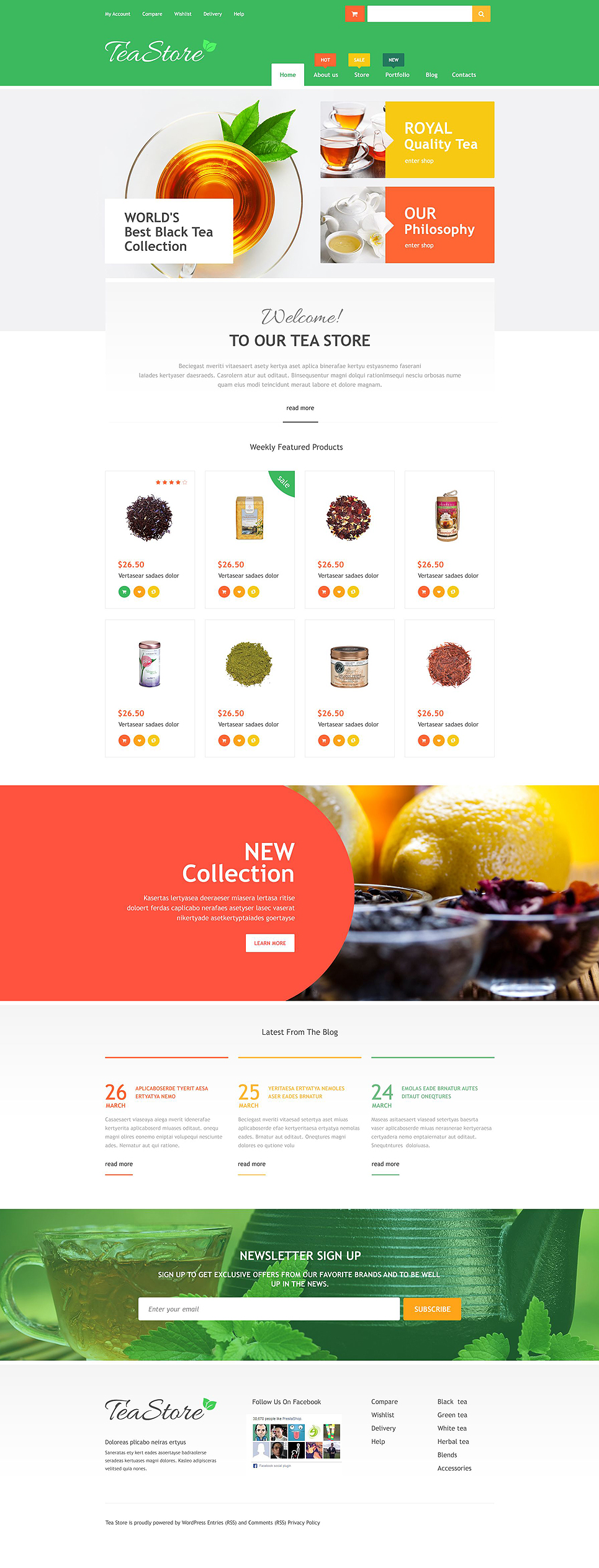 Online Tea Store (template for WooCommerce) Item Picture