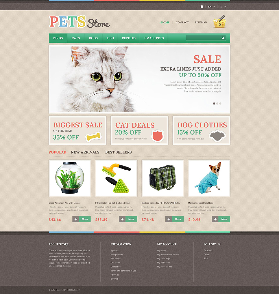 Pets Store (PrestaShop template) Item Picture