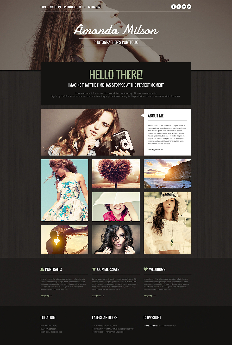 Photographer Portfolio (dark WordPress theme for photography and photographers) Item Picture