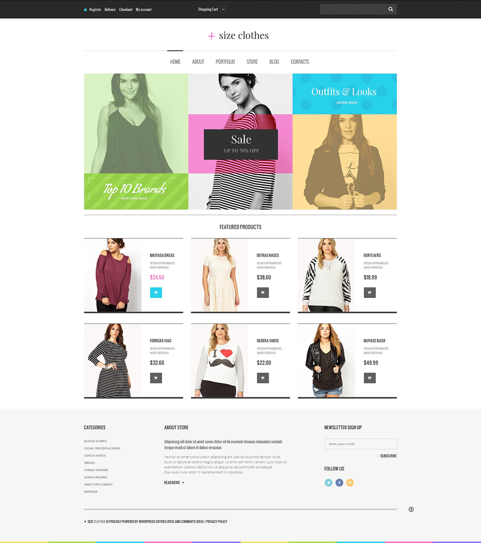 Plus Size Clothes WooCommerce Theme