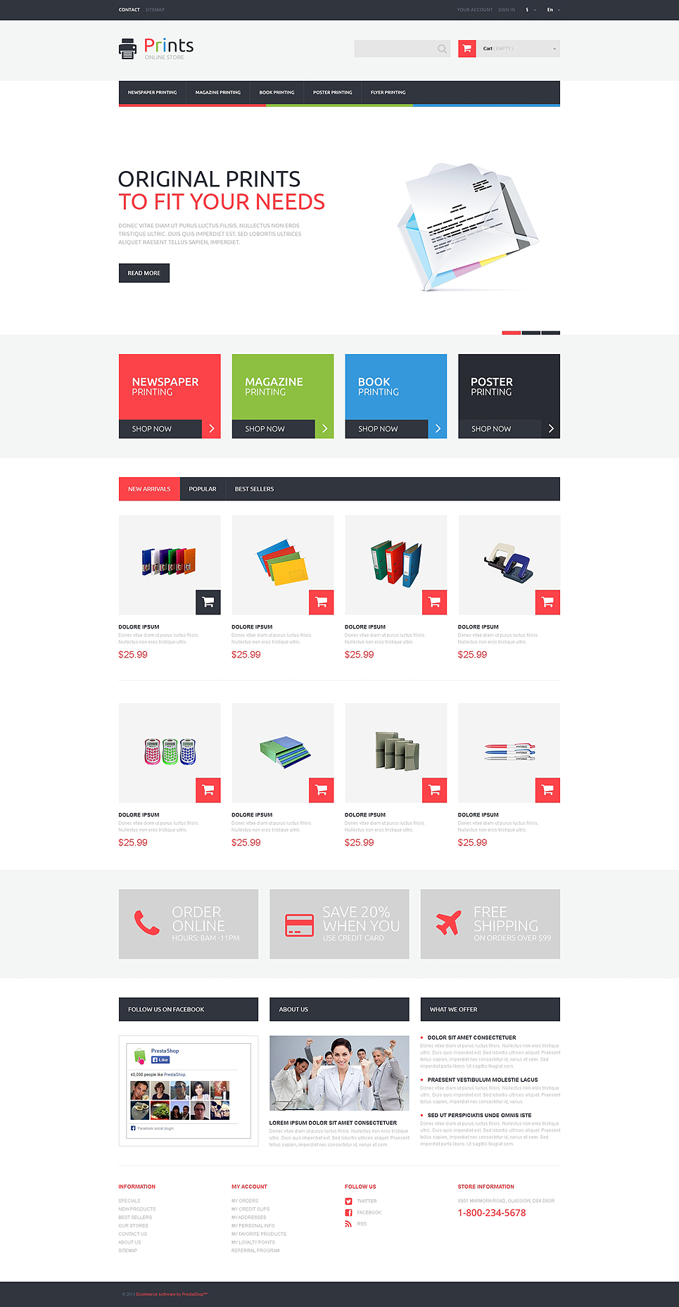 Print Store (PrestaShop theme) Item Picture