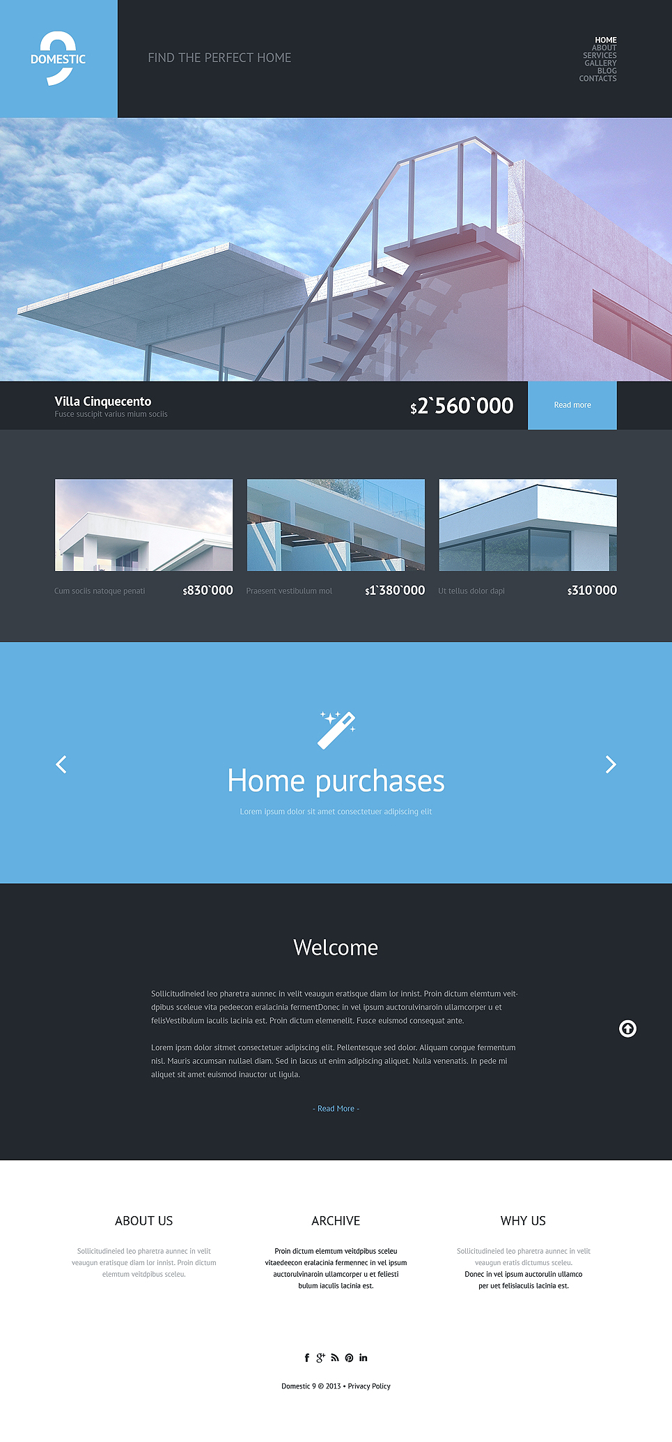 Real Estate Agency WordPress Theme (WordPress theme for the construction industry) Item Picture