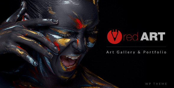 Red Art Photography  (dark WordPress theme for photography and photographers) Item Picture