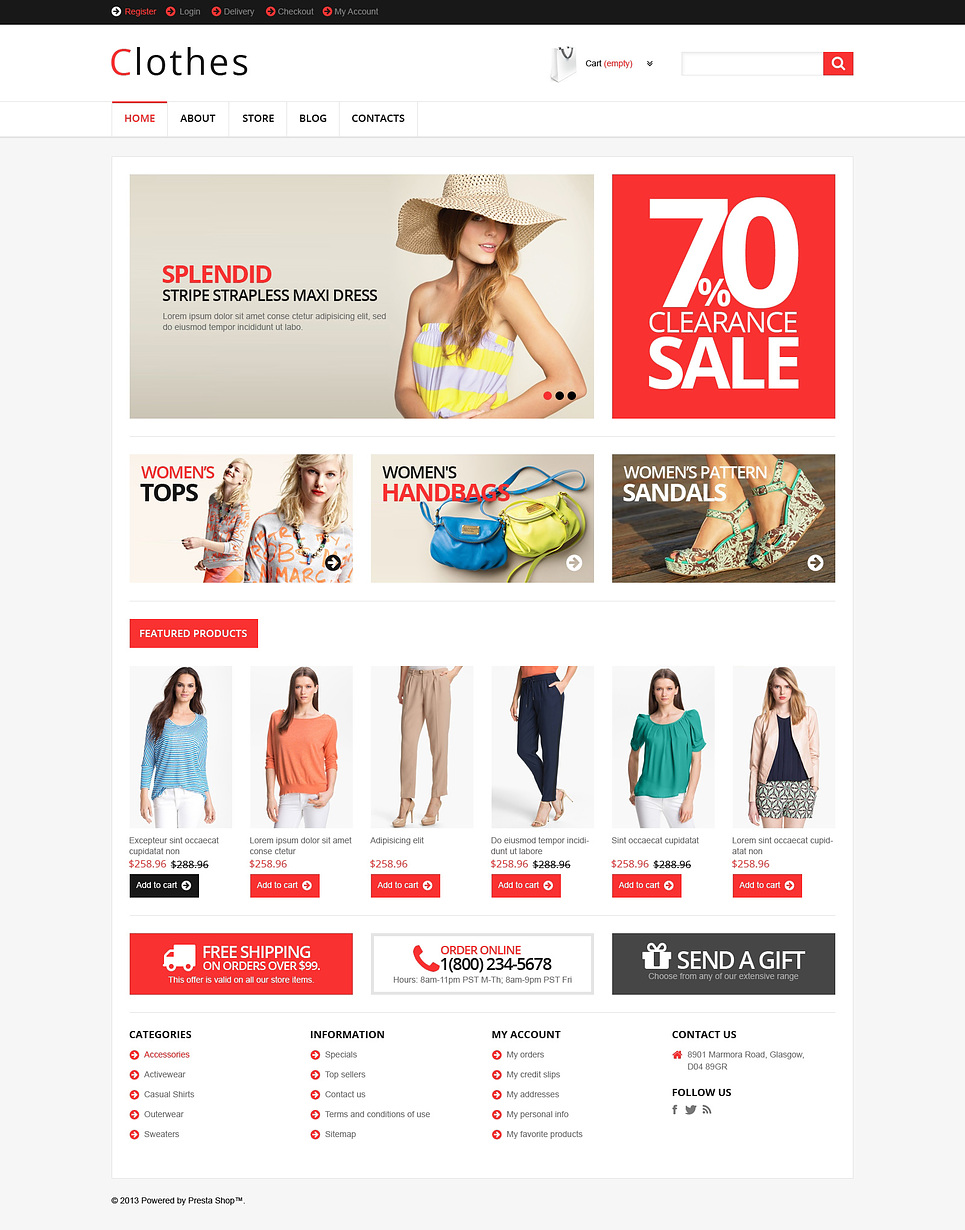 Responsive Clothes Store (WordPress theme for clothing or fashion stores) Item Picture