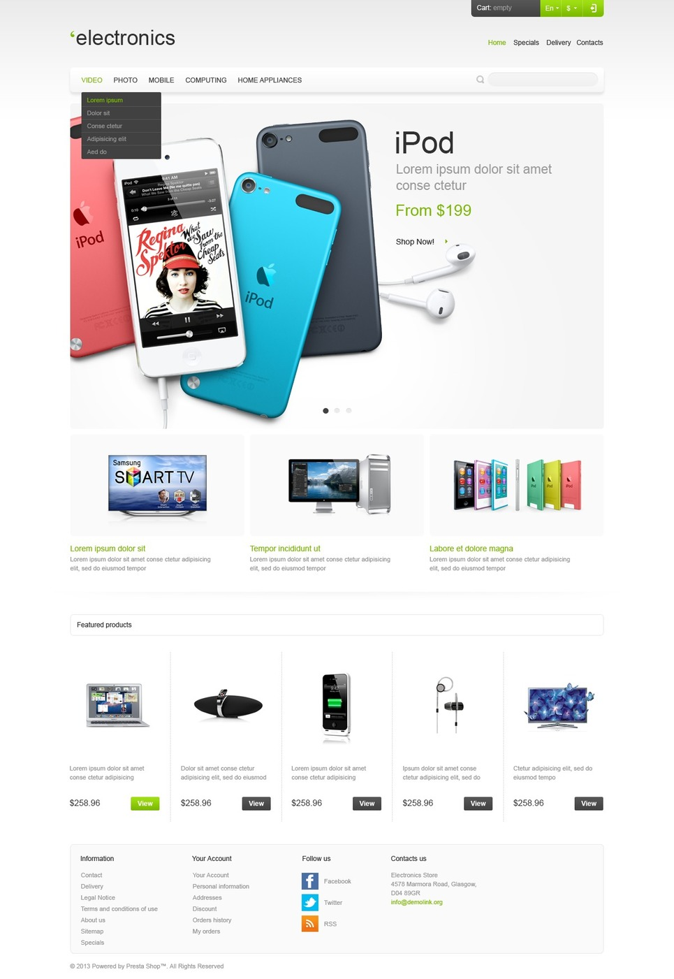 Responsive Electronics Store (theme for PrestaShop) Item Picture