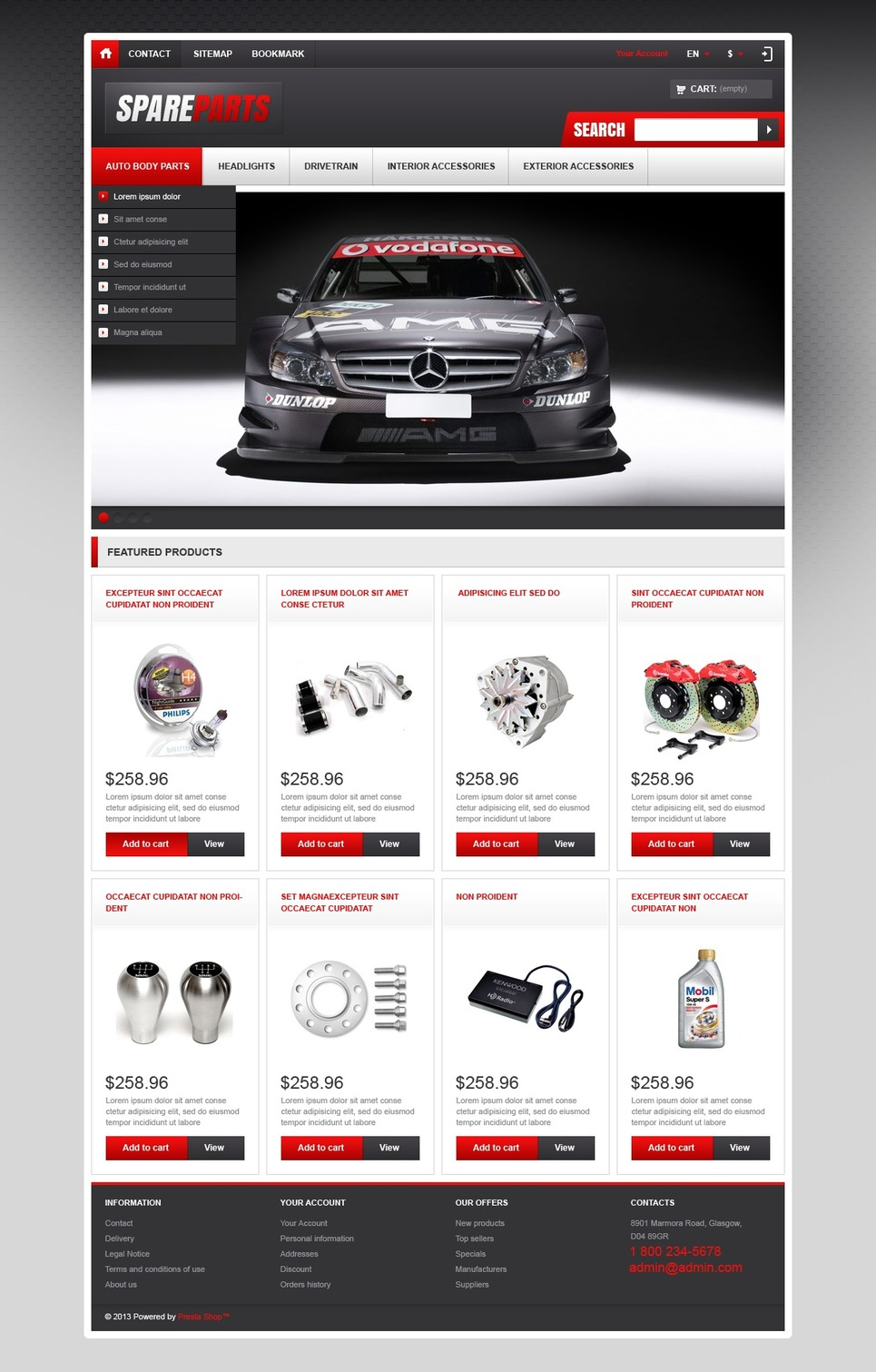 Responsive Spare Parts Store (PrestaShop theme) Item Picture