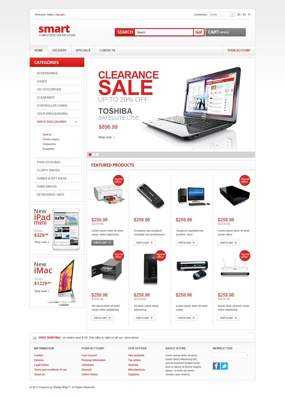 Smart Computer Store (template for PrestaShop) Item Picture