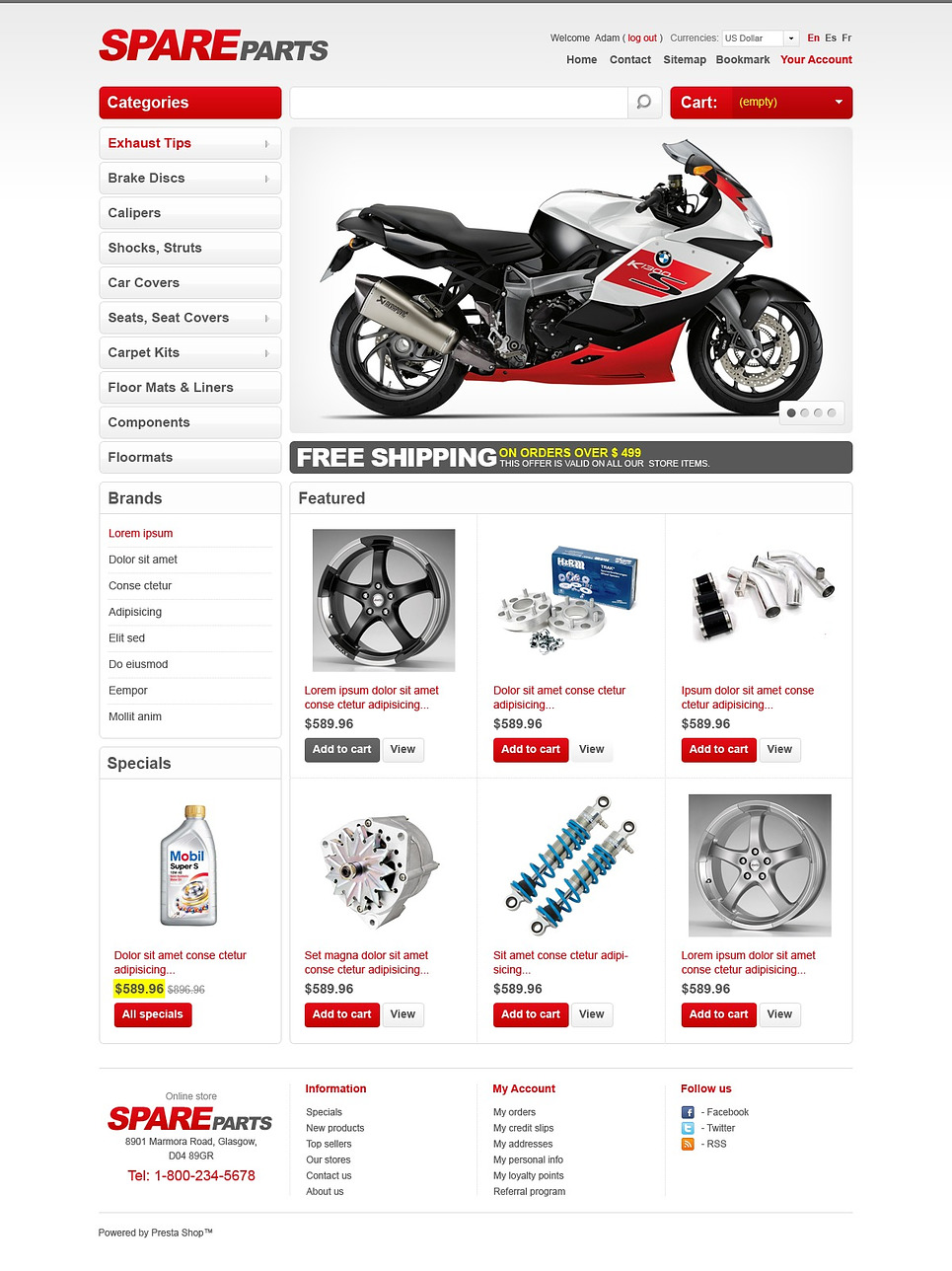Spare Parts (PrestaShop theme) Item Picture