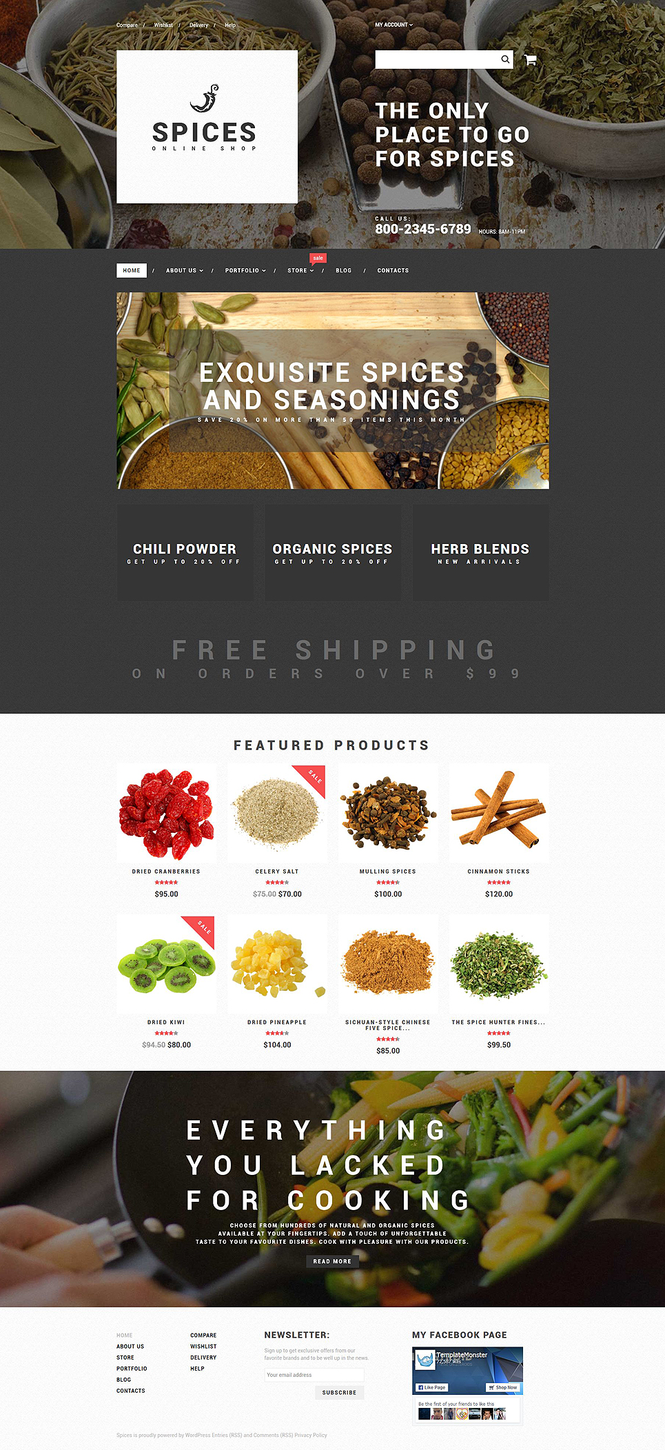 Spice Shop (template for WooCommerce) Item Picture