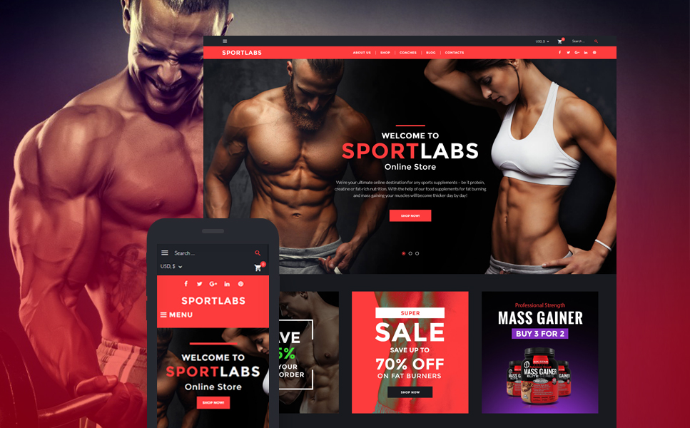 SportLabs (template for WooCommerce) Item Picture