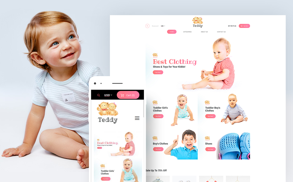 Teddy (template for WooCommerce) Item Picture