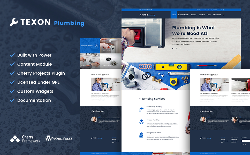Texon Plumbing (WordPress theme plumbing companies) Item Picture