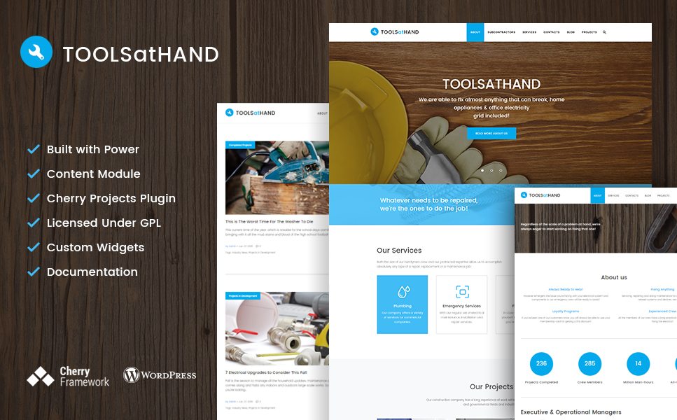 Tools At Hand (handyman WordPress theme) Item Picture