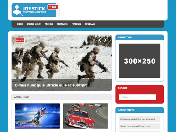 Joystick (WordPress theme for gaming sites) Item Picture