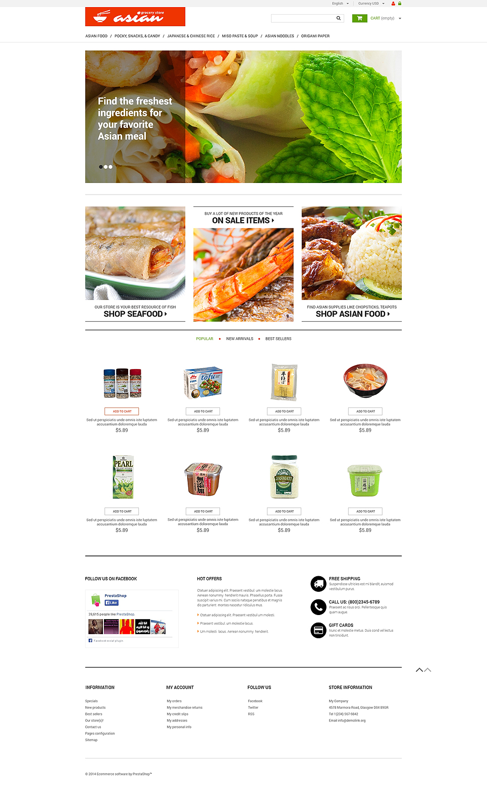 Asian Grocery (ecommerce theme for PrestaShop) Item Picture