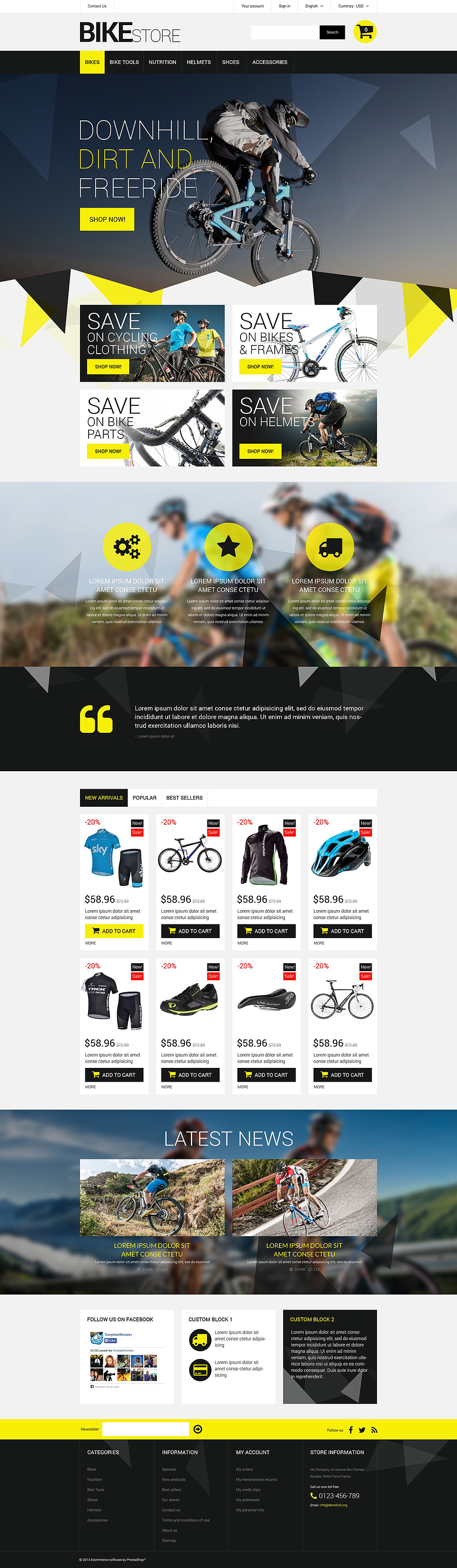 Bike Store (ecommerce template for PrestaShop ) Item Picture