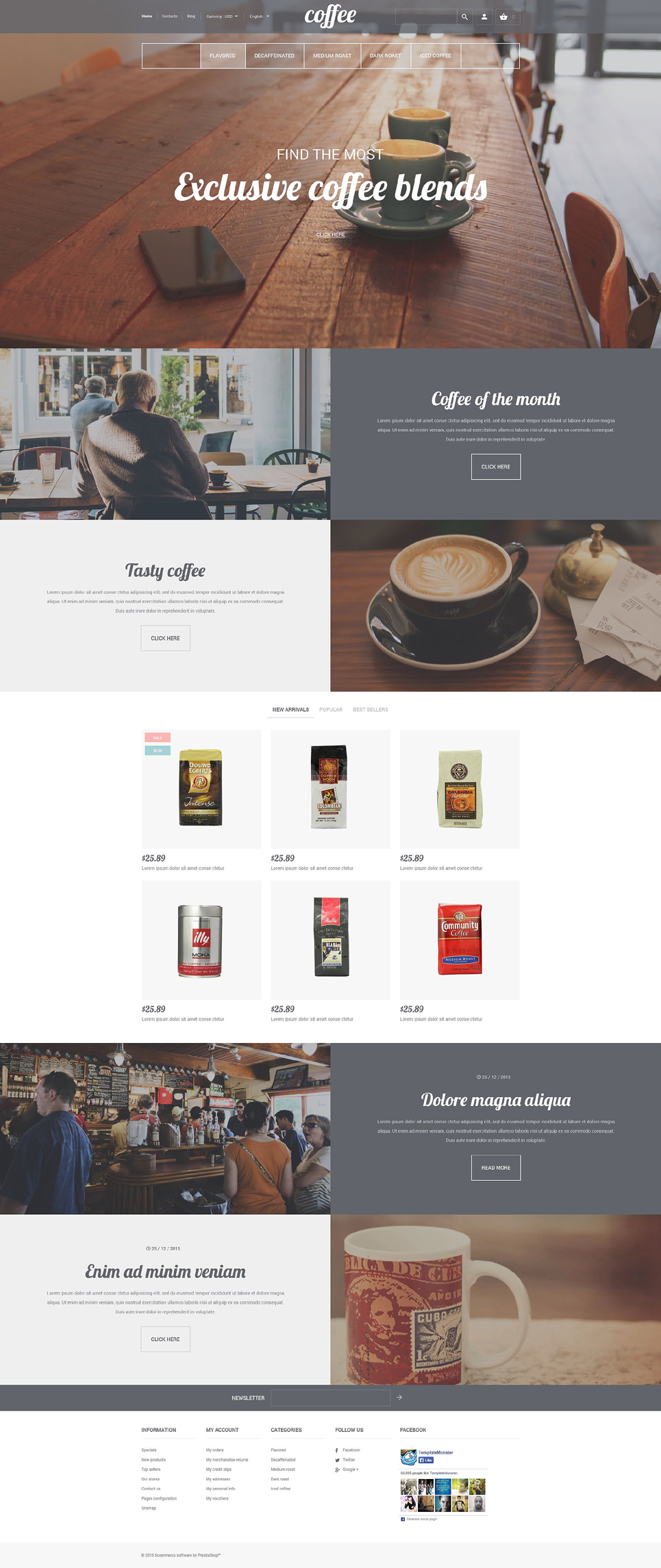 Coffee House (template for PrestaShop) Item Picture