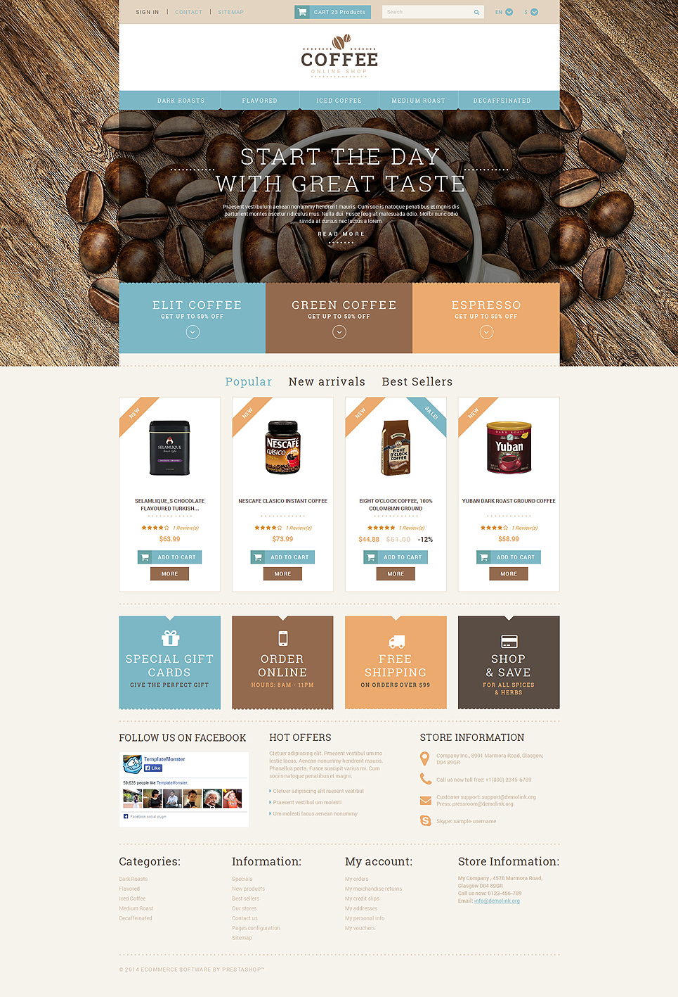 Coffee Shop Responsive (template for PrestaShop) Item Picture
