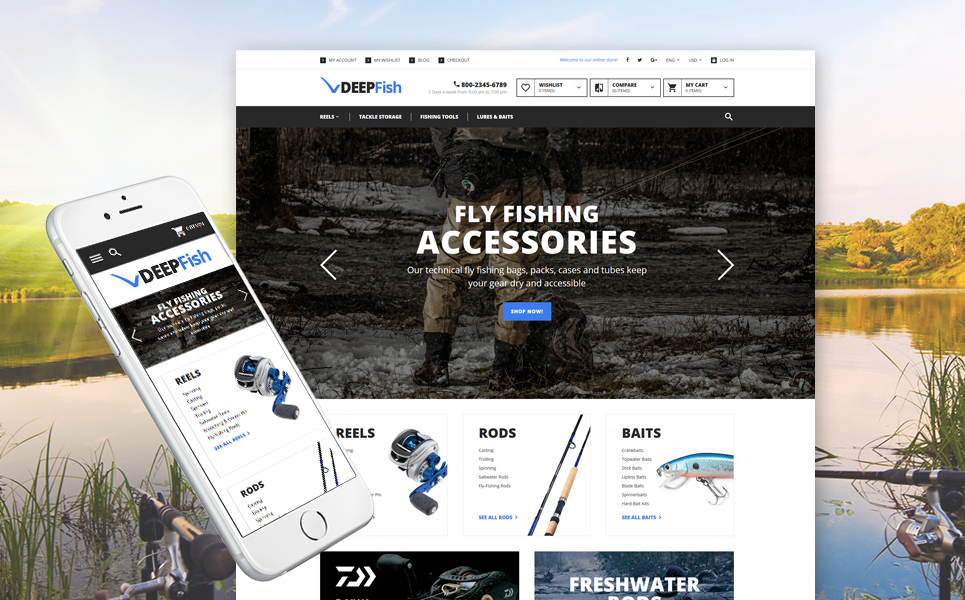 DeepFish (theme for Magento ) Item Picture