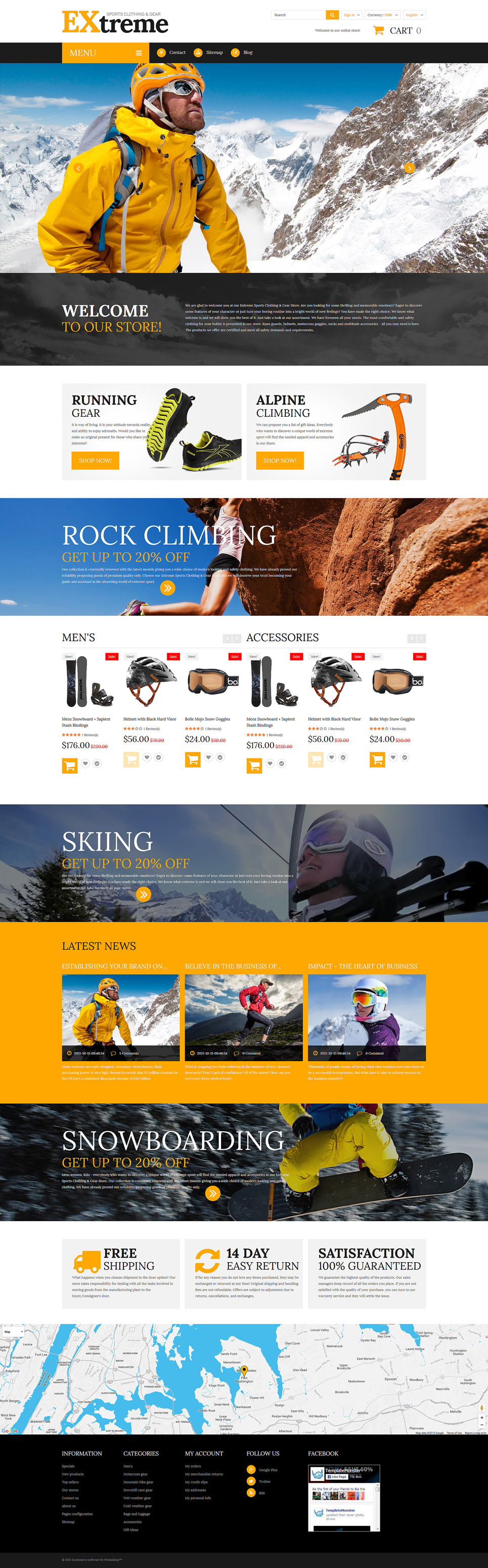 Extreme Sports Clothing Shop