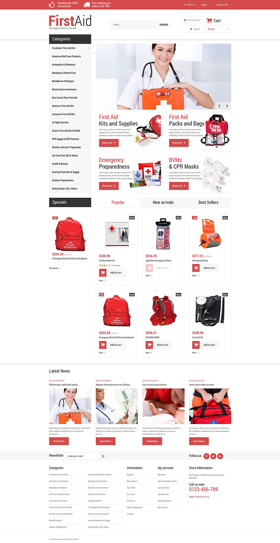 First Aid Store (ecommerce PrestaShop theme) Item Picture