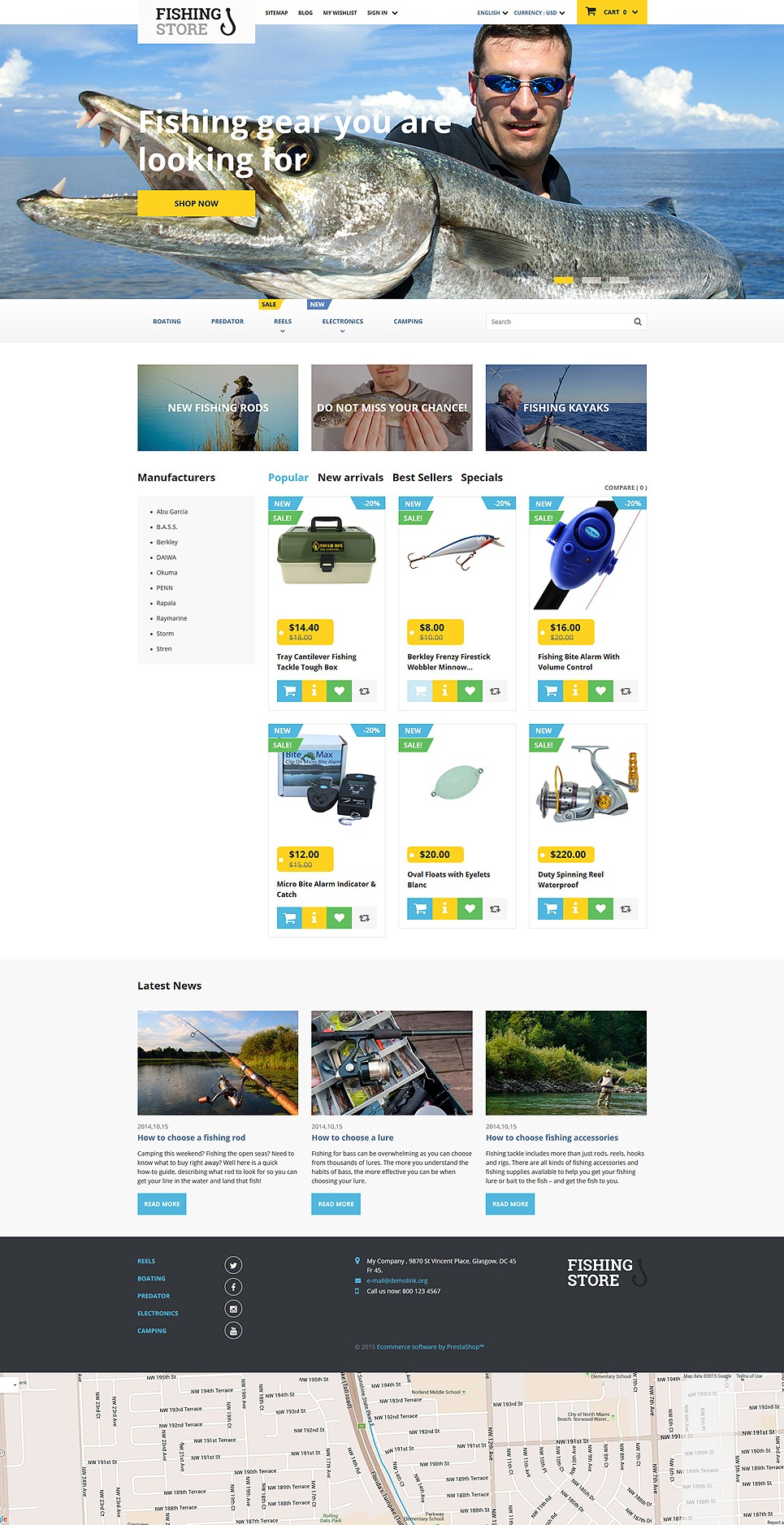 Fishing Store (ecommerce template for PrestaShop ) Item Picture