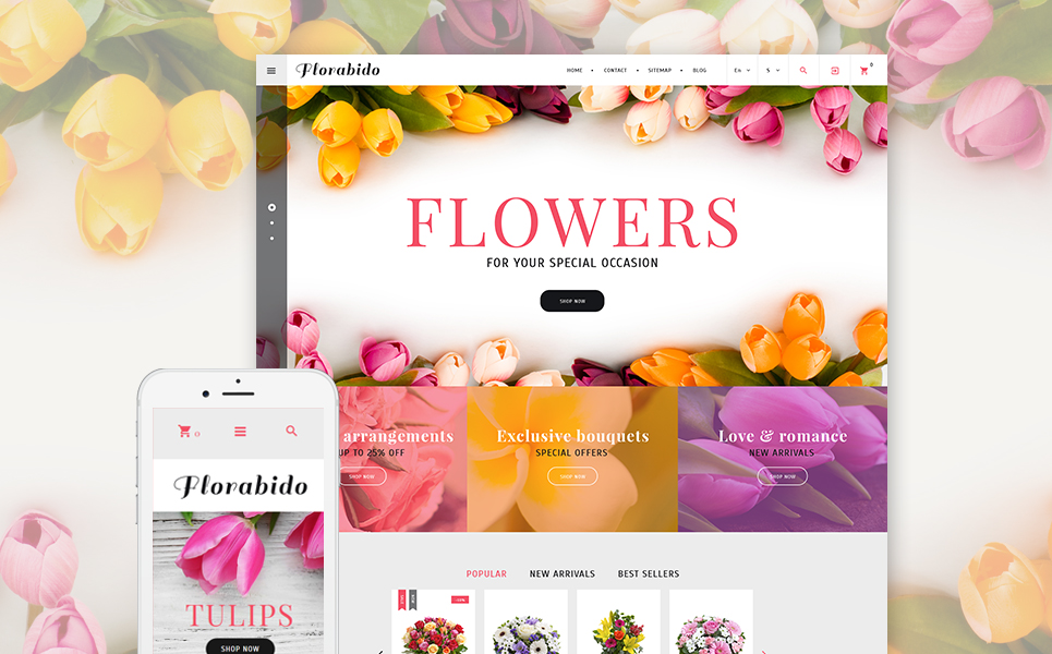 Florabido (ecommerce PrestaShop template) Item Picture