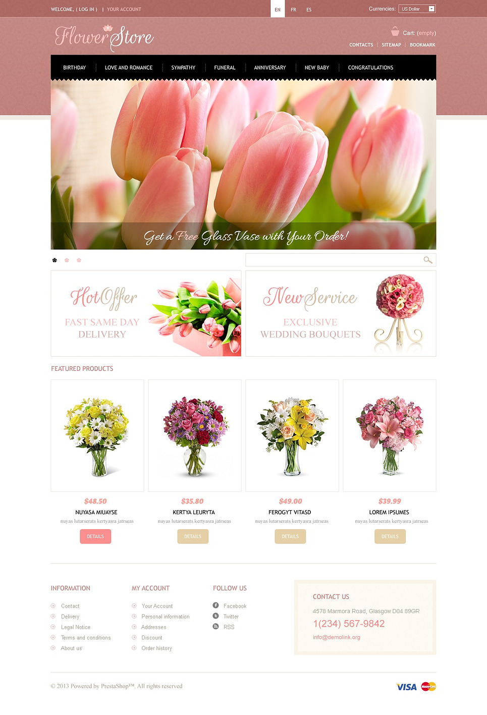 Flowers Store (ecommerce PrestaShop template) Item Picture