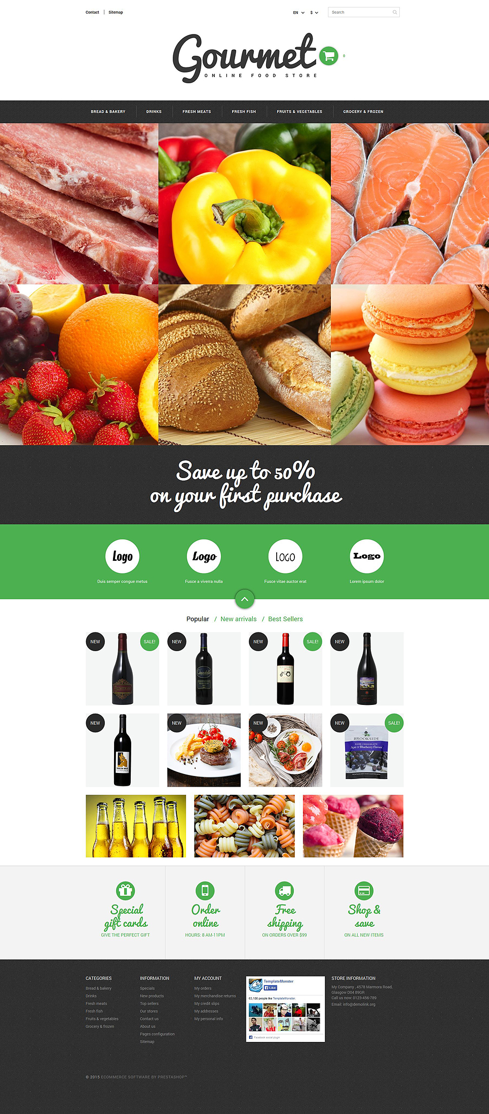 Food Shop (ecommerce theme for PrestaShop) Item Picture