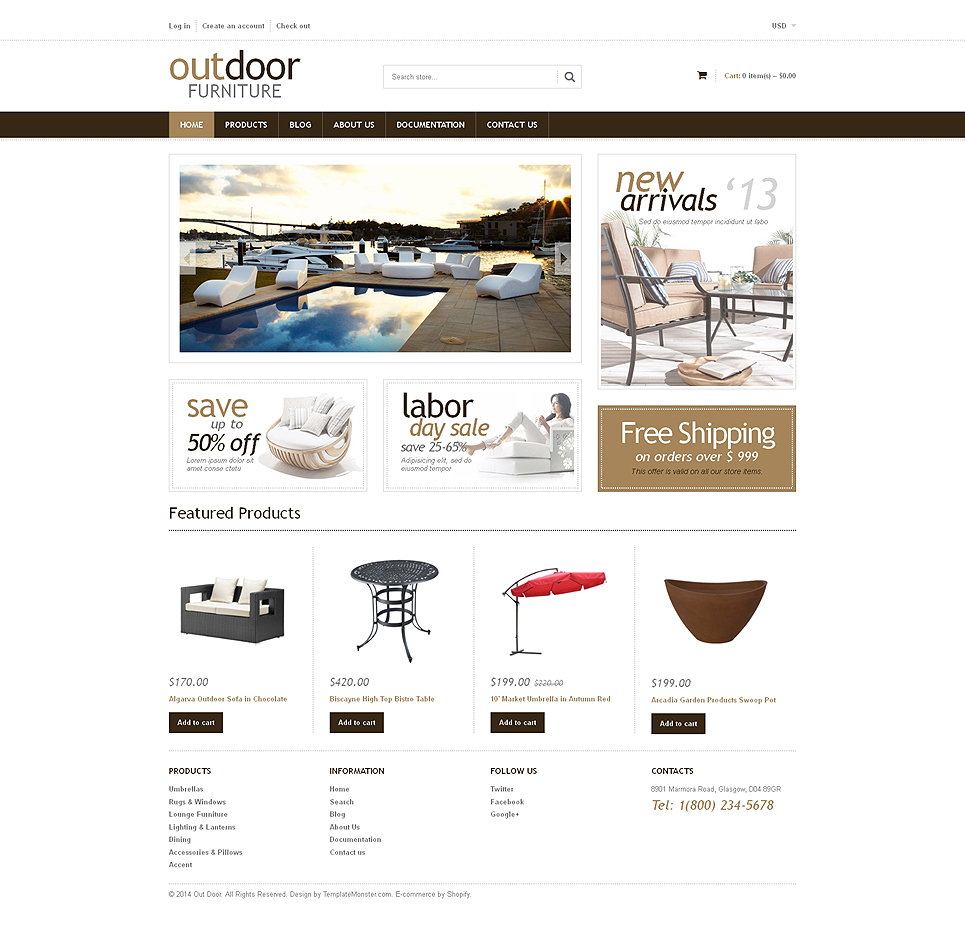 Furniture Store (ecommerce Shopify theme) Item Picture