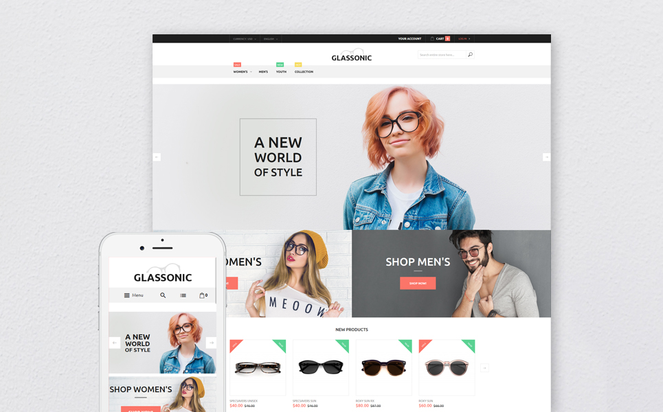 Glassonic (theme for Magento ) Item Picture