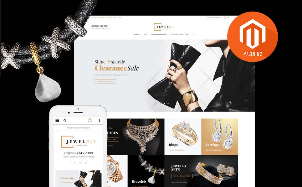 Jewelrix (theme for Magento ) Item Picture