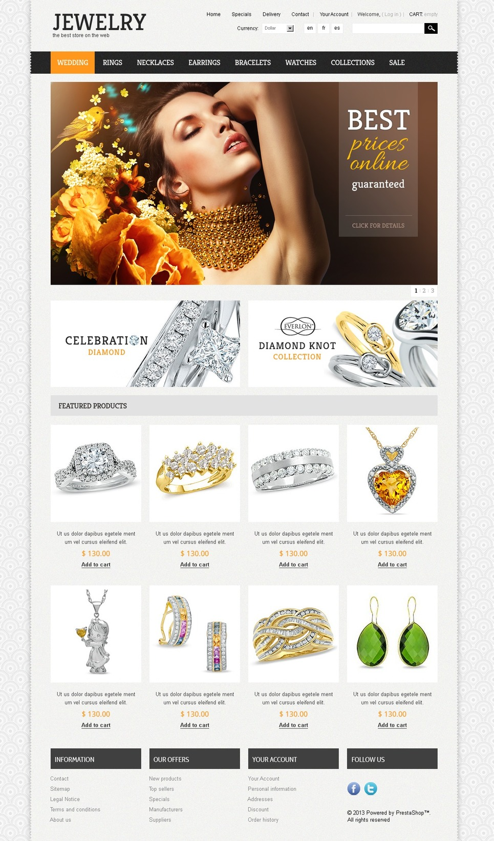 Jewelry Theme (PrestaShop theme) Item Picture