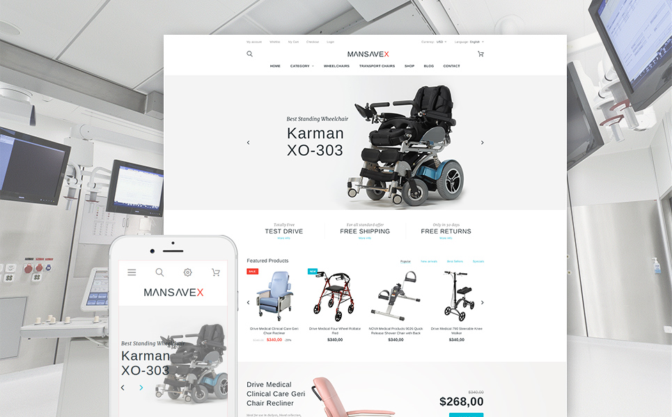 Mansavex (ecommerce PrestaShop theme) Item Picture