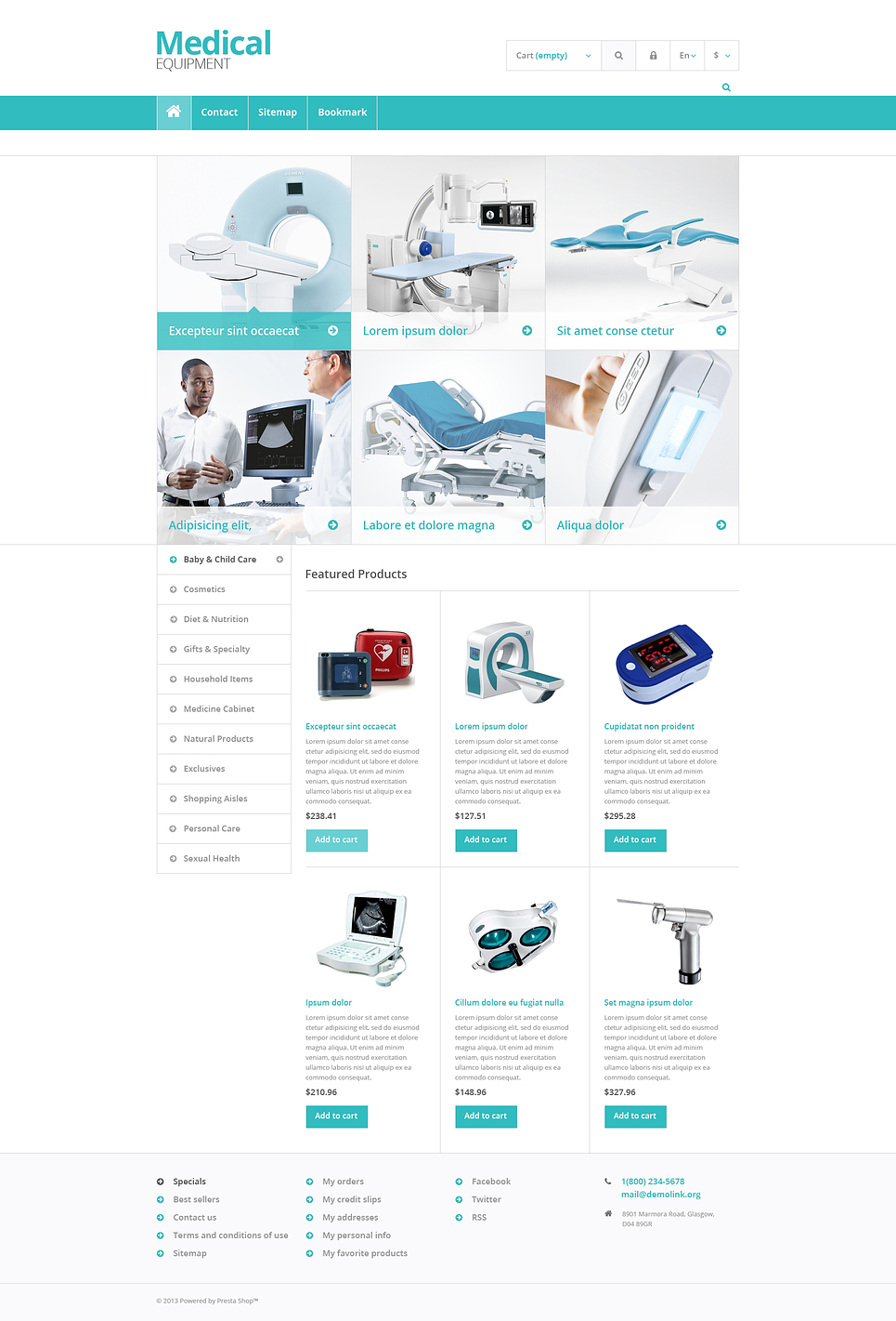 10+ Medical Equipment & First Aid Supplies Ecommerce PrestaShop ...