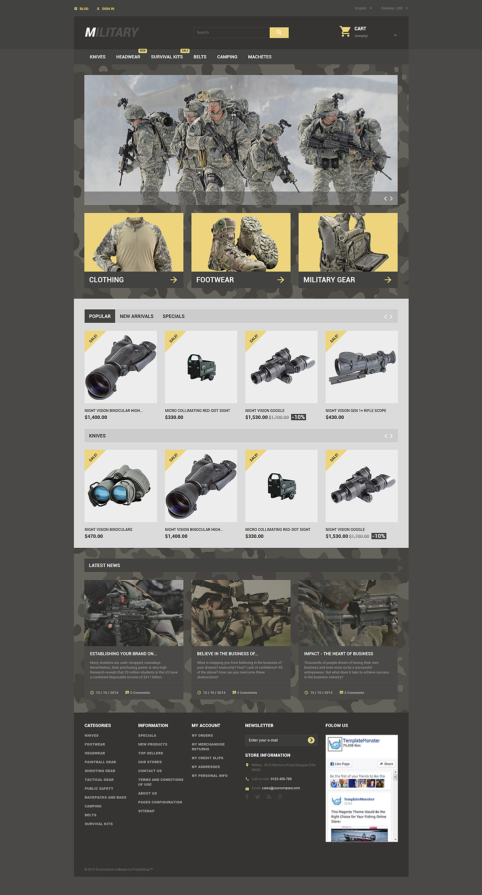 Military Me (PrestaShop template) Item Picture