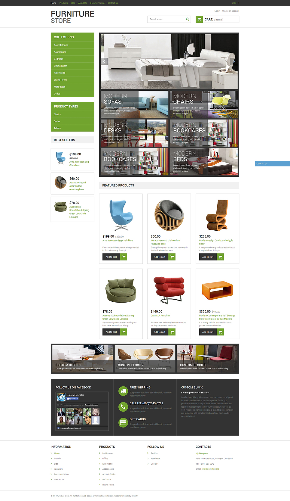 Modern Furniture Store (theme for Shopify) Item Picture