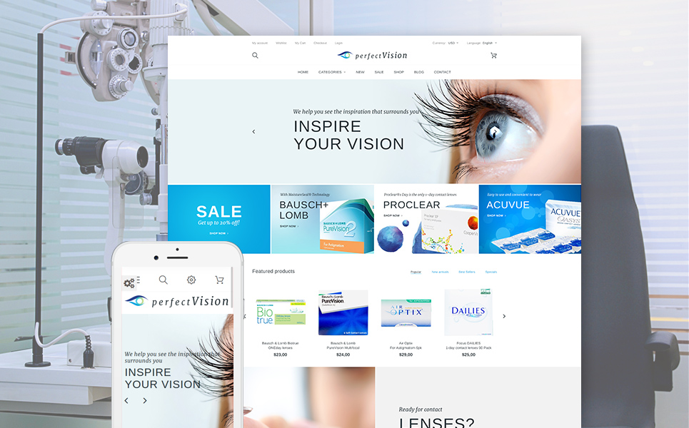 Perfect Vision (ecommerce theme for PrestaShop) Item Picture