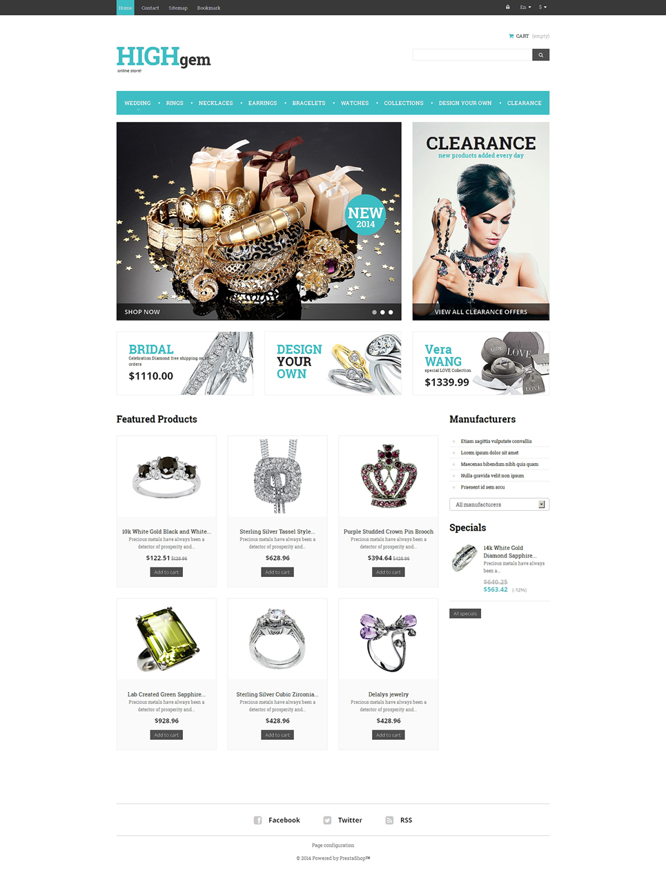 Premium Quality Jewelry (PrestaShop theme) Item Picture