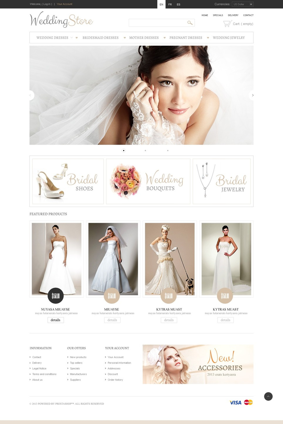 Pretty Bride (ecommerce template for PrestaShop ) Item Picture