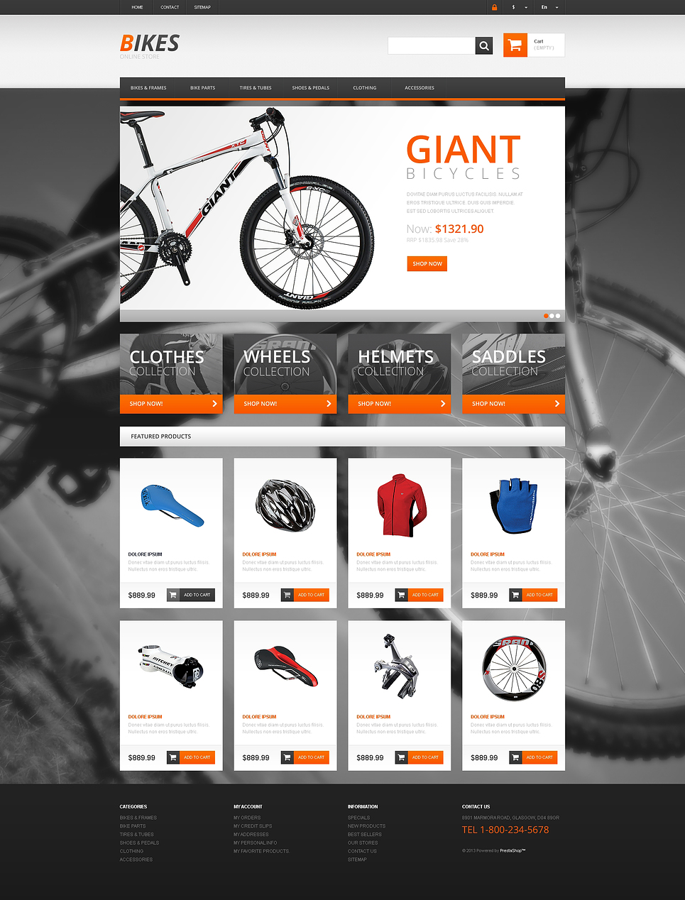 Responsive Bikes Store (ecommerce template for PrestaShop ) Item Picture