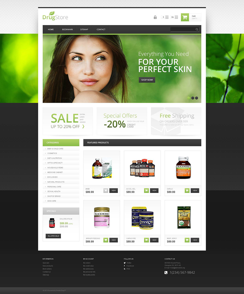 Responsive Drugstore (template for PrestaShop) Item Picture