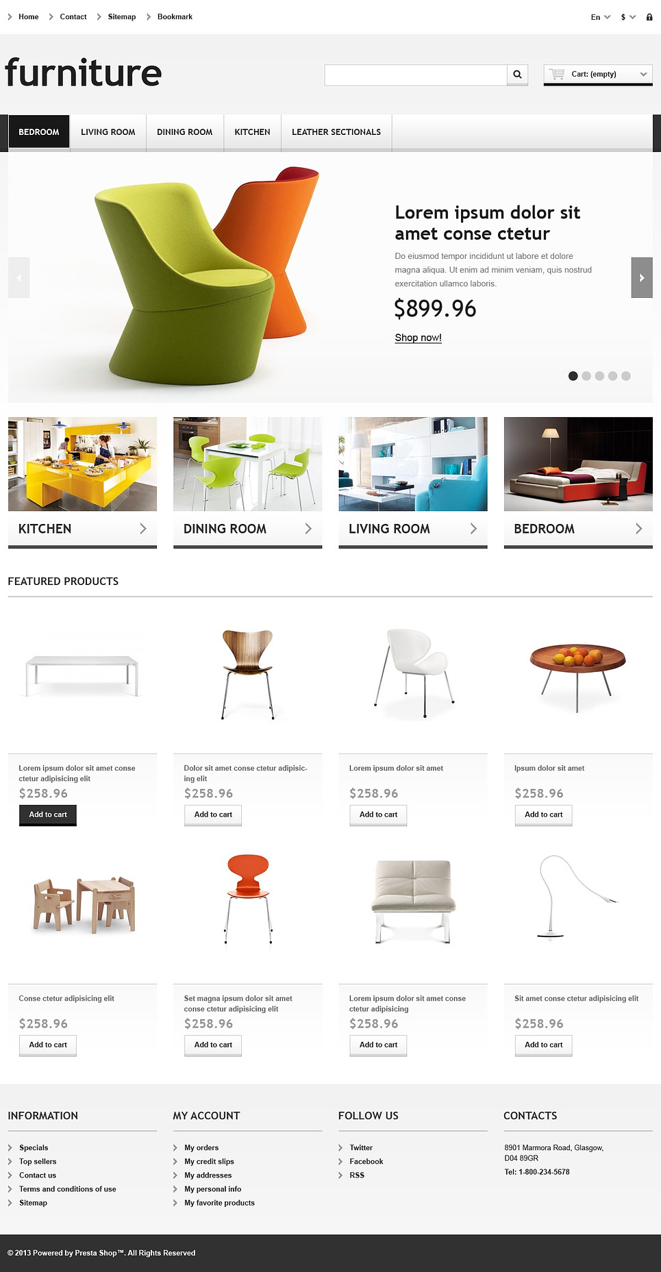 Responsive Furniture Store (ecommerce PrestaShop theme) Item Picture