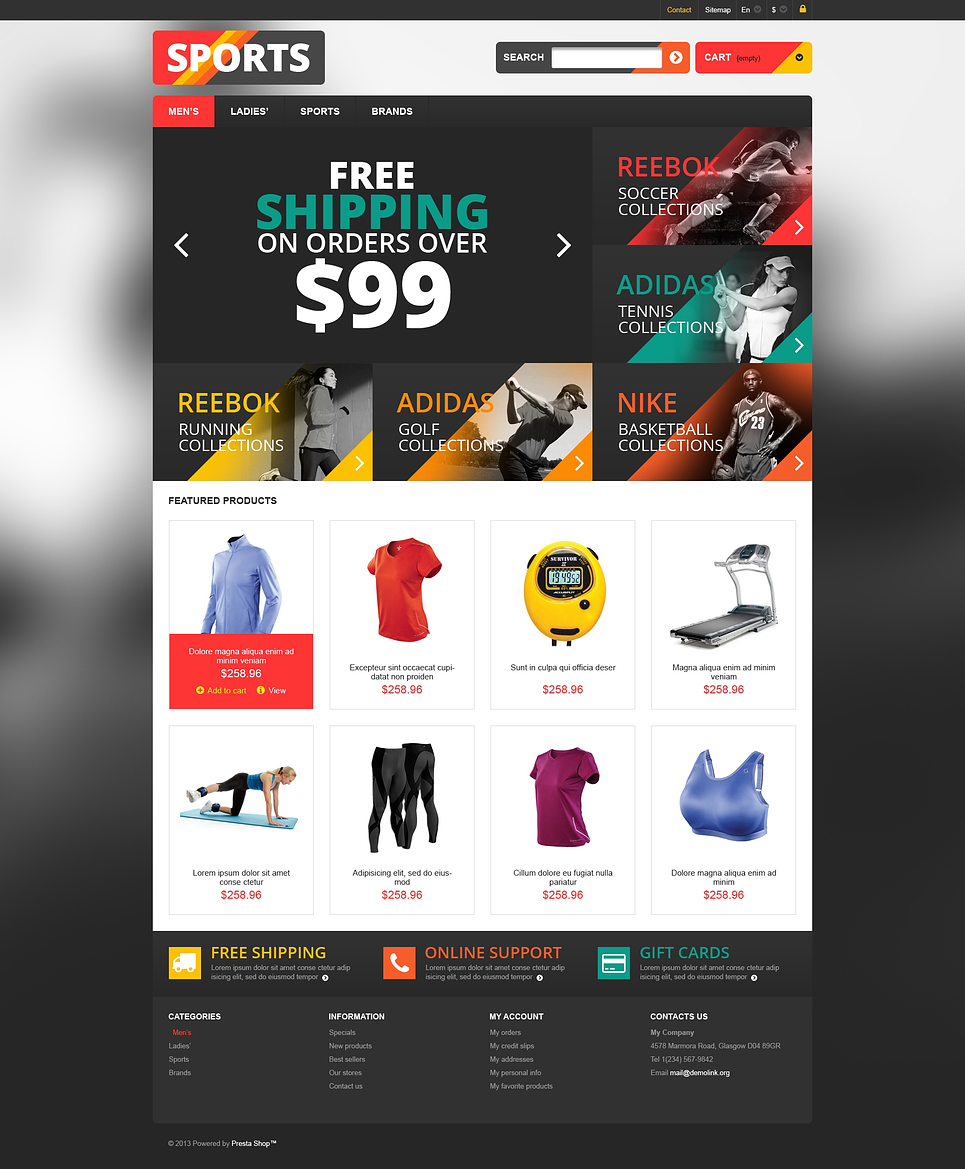 Responsive Sports Store