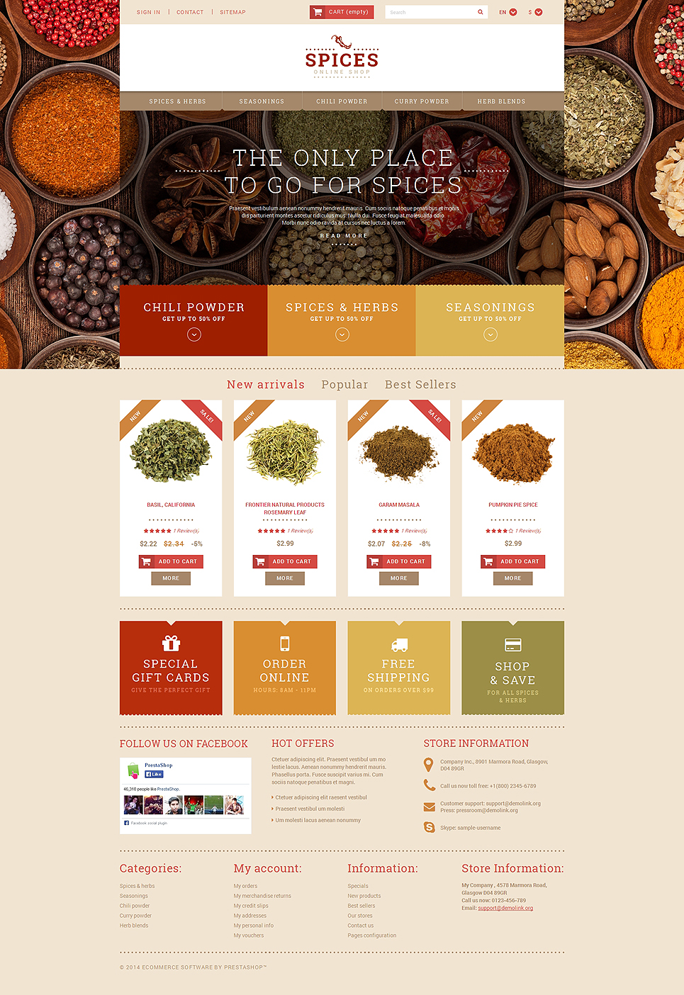 Spice Shop (template for PrestaShop) Item Picture