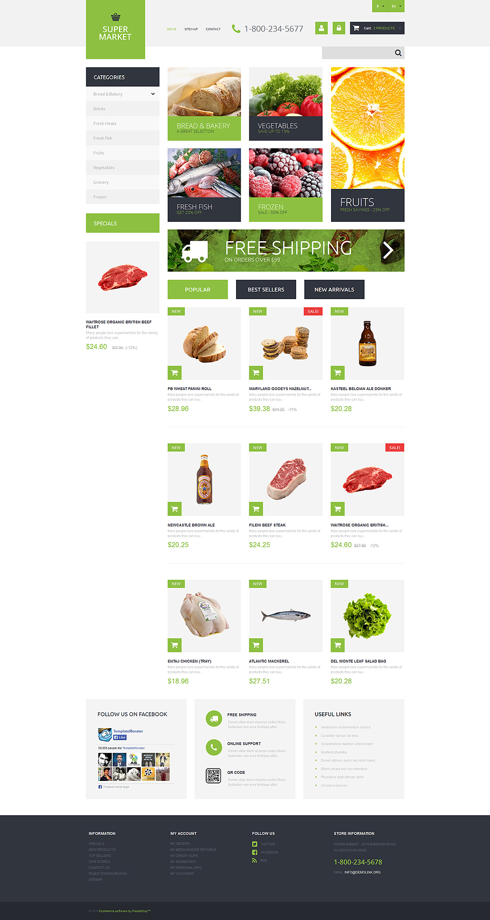Supermarket Template (ecommerce theme for PrestaShop) Item Picture